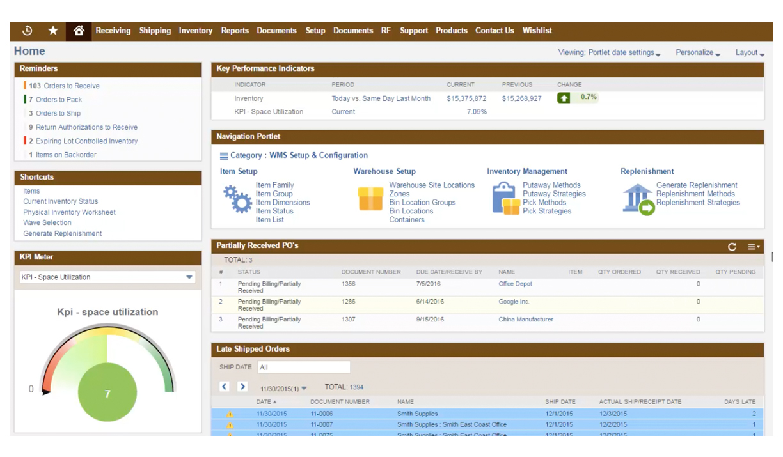 NetSuite Warehouse management Screenshot